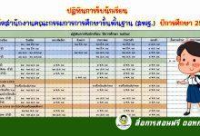 ปฏิทินการรับนักเรียน สังกัดสำนักงานคณะกรรมการการศึกษาขั้นพื้นฐาน (สพฐ.) ปีการศึกษา 2564
